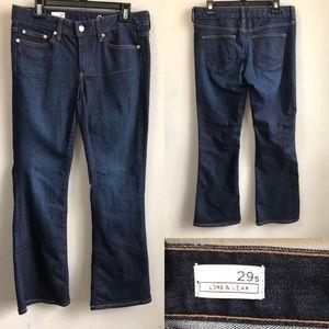 GAP long and lean dark wash boot cut 29 short.